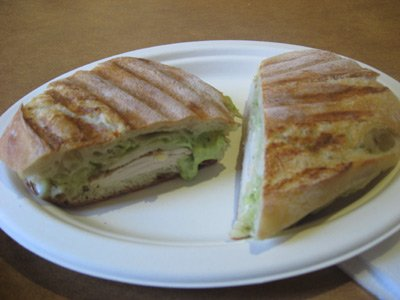 chicken pesto panini sandwich