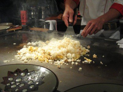 Benihana - San Diego, CA - Fried Rice in Action