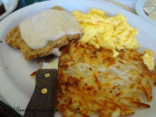 chicken fried steak breakfast - lemon grove deli - san diego, ca
