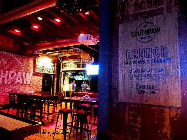 southpaw social club - dining room