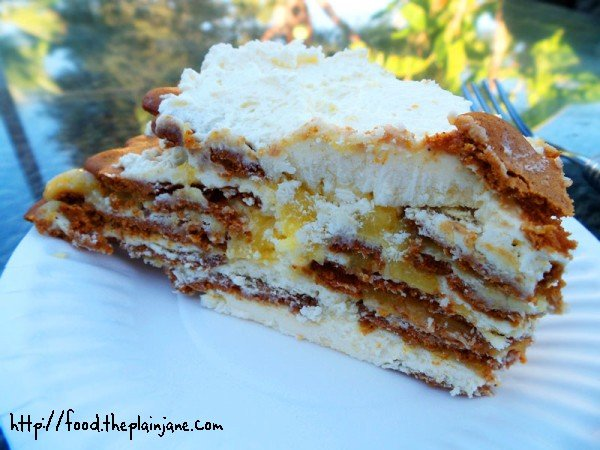 Lemon Ginger Ice Box Cake - Layers