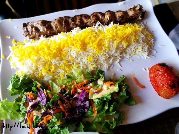 Lamb Kabob Plate - Naseems Bakery and Cafe - San Diego, CA