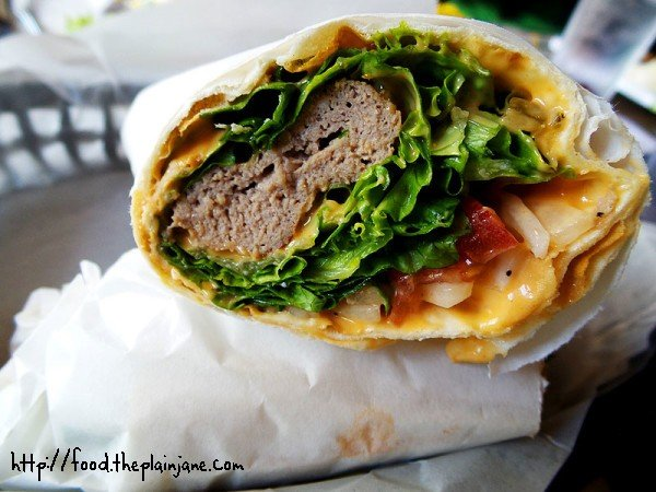 Lamb Kabob Wrap - Naseems Bakery and Cafe - San Diego, CA