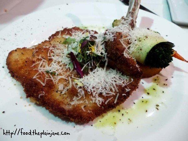 Milanese Veal Chop at Solare - San Diego, CA