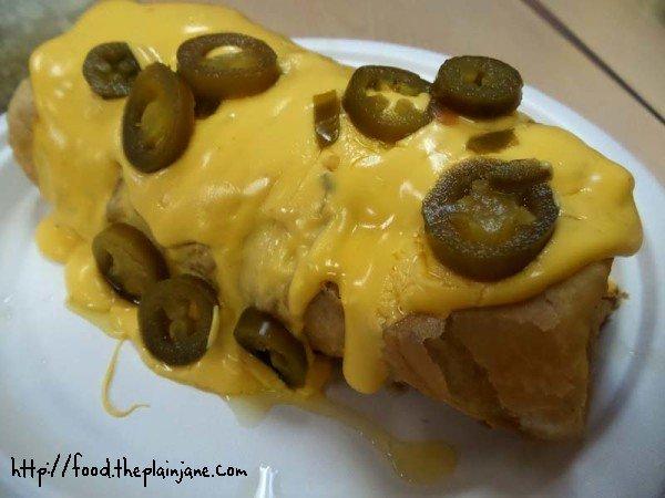 nacho burrito - jv's mexican food - san diego, ca