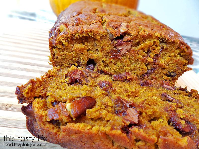 pumpkin chocolate chip pecan bread